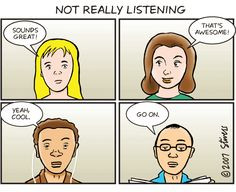 Selective Listening   Posted by Gina at 9:27 AM 1 comment: