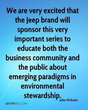 and the public about emerging paradigms in environmental stewardship