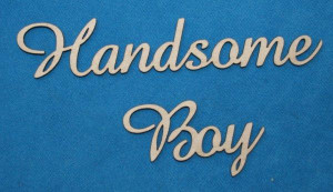 Handsome Word Handsome boy - word