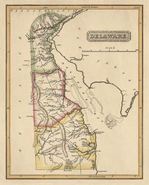 Colonial Delaware Map