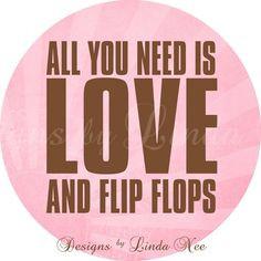 FLIP FLOP Summer on the Beach - Life is better in flip flops (1 inch ...