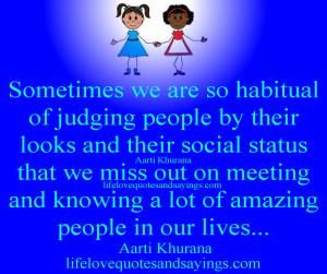 Judging Quotes Amazing Life