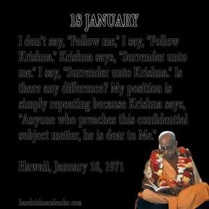 Srila Prabhupada Quotes For Month January 18