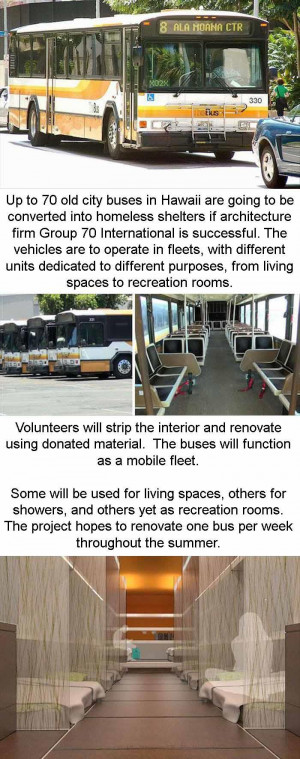 Old Buses Are Being Turned Into Homeless Shelters – 3 Pics