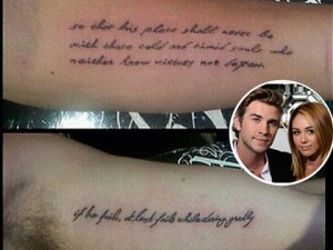 ... Cyrus And Fiance Liam Hemsworth Get Matching Tattoos–See The Picture