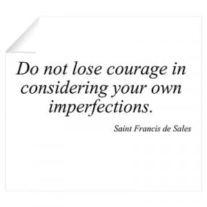 ... > Wall Art > Wall Decals > Saint Francis de Sales quote Wall Decal