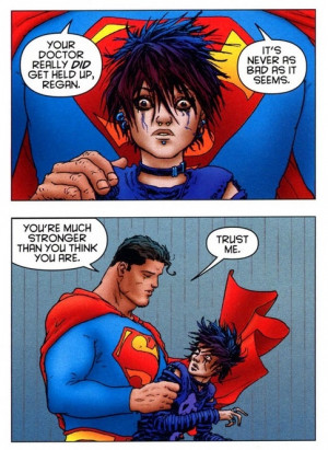 charged with the responsibility of saving the whole world, Superman ...