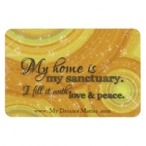 My Home Is My Sanctuary Home Blessing Inspiration Vinyl Magnet