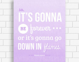 INSTANT DOWNLOAD Taylor Swift 1989 Blank Space Lyrics Typography ...