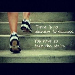 Take the stairs. #inspiring #quote