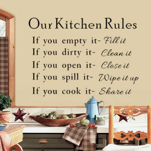 Elegant-Words-Our-Kitchen-Rules-Quotes-Wall-Stickers-Decal-Mural-Decor ...