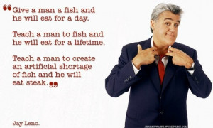 Jay Leno, a comedian and TV host with a speech impediment. Pretty ...