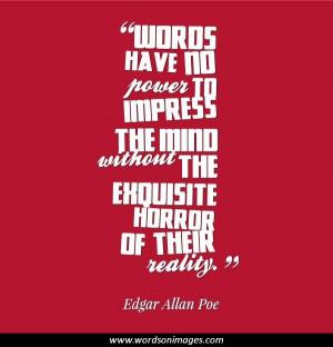 Edgar allan poe famous quotes