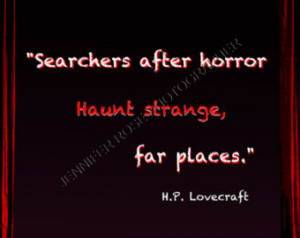 Lovecraft Goth Quote Art 5x7 F ramed Inspirational Famous Author ...