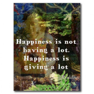 BUDDHA quote about happiness Post Cards