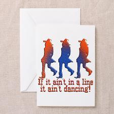 Line Dancing Greeting Card for