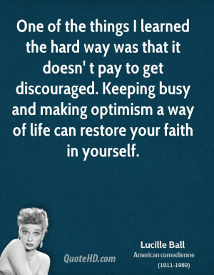 Lucille Ball Life Quotes
