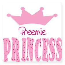 Preemie Princess Baby Square Car Magnet for