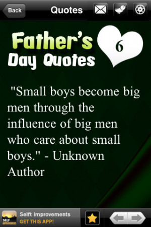 Download Inspirational Father`s Day Quotes iPhone iPad iOS