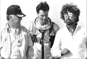 Sam Shepard as Chuck Yeager, the first man to break the sound barrier ...