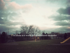 am alone in a world