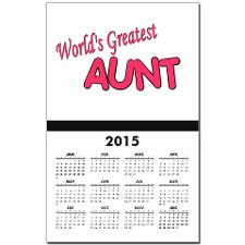 Cute Aunt sayings baby Calendar Print