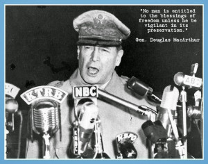 IN LOVING MEMORY OF GENERAL DOUGLAS MACARTHUR [SOLDIERS' QUOTE OF ...