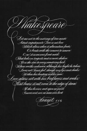 William Shakespeare Sonnet 116