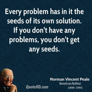 Every Problem Has The Seeds...