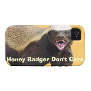 Honey Badger Don't Care, Funny, Cool, Nasty Animal Case For The iPhone ...