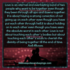 Love Is An Eternal Bond..