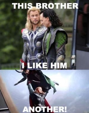 LOL funny tom hiddleston Chris Hemsworth Thor Marvel loki avengers