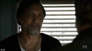 Emotional scene: Jax confesses to his friend Nero (Jimmy Smits) - and ...