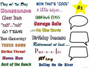 Sayings and Clip Art
