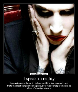carteles y desmotivaciones de marilyn manson quotes reality afraid