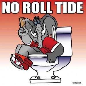 LSU beat Alabama 9-6 and now some very funny pictures are showing up ...