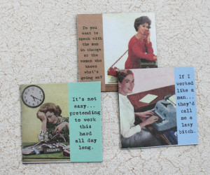 Funny Office Magnets Set Four Sassy Sayings