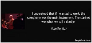 Bass Clarinet Quotes