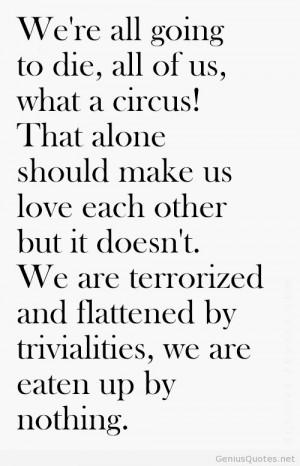 Charles Bukowski Death Quote