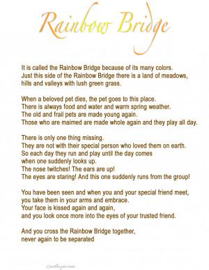 Pet Loss Poem