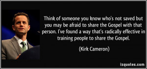 Think of someone you know who's not saved but you may be afraid to ...