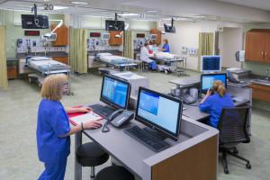 Nurses Station, Emergency Department, Rideout Regional Medical Center