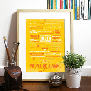 Poem Quote IF Typography Art Poster Print - IF Poem by Rudyard Kipling ...