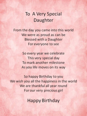 Happy birthday inspirational quotes for daughters