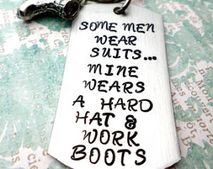 Hard Hat and Boots Keychain, Oilfie ld Wife, Oilfield Girlfriend ...