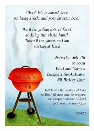 Family Reunion BBQ Invites