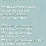 Baby Dedication Poem With Scripture