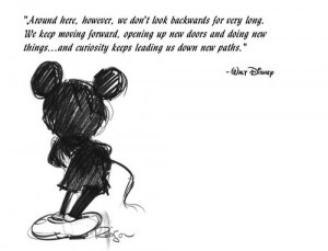 drawing, mickey mouse, quote, walt disney