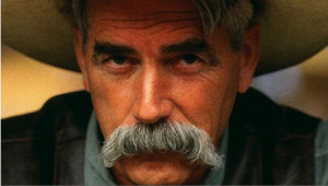 Actor Sam Elliot sporting half of a face's worth of warm, soothing ...
