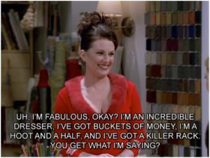 17 Hilarious Karen Walker Quote